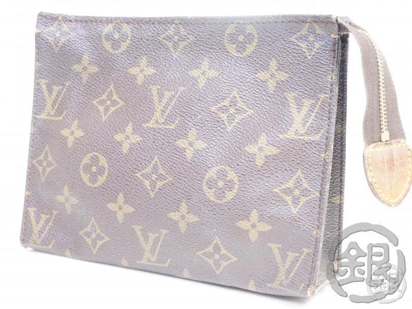 AUTHENTIC PRE-OWNED LOUIS VUITTON MONOGRAM POCHE TOILETTE 19 COSMETIC CASE POUCH BAG M47544 182176