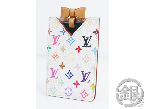 AUTHENTIC PRE-OWNED LOUIS VUITTON MONOGRAM MULTI COLOR ETUI MIROIR MIRROR CARD CASE M92651 143064