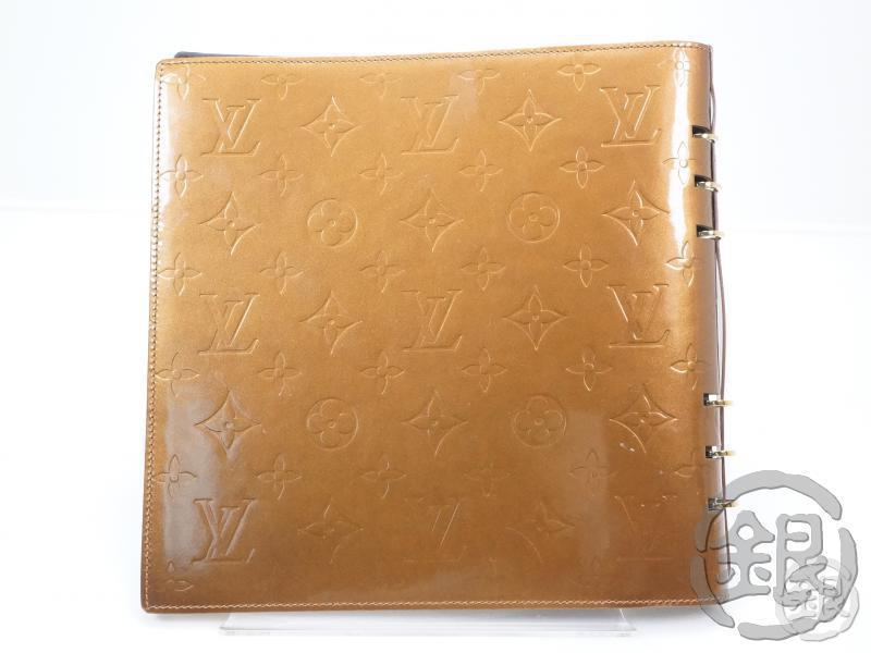 AUTHENTIC PRE-OWNED LOUIS VUITTON VERNIS BRONZE VENDREDI NOTE COVER SKETCH BOOK R20813 151676