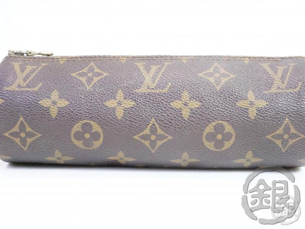 AUTHENTIC PRE-OWNED LOUIS VUITTON MONOGRAM TROUSSE RONDE PEN CASE COSMETIC POUCH BAG M47626 181085