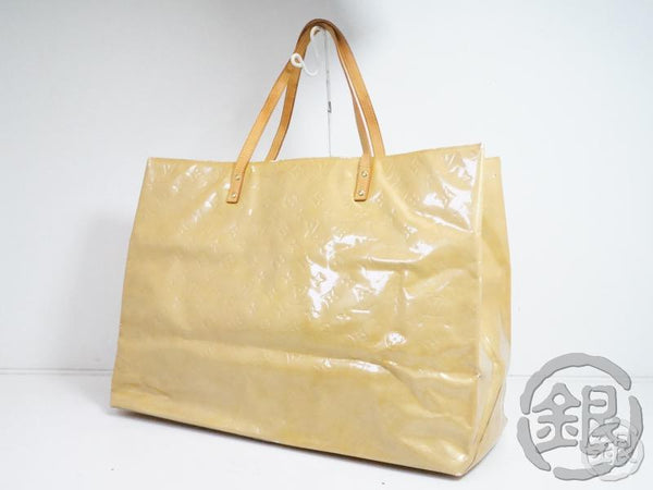 AUTHENTIC PRE-OWNED LOUIS VUITTON VERNIS BEIGE READE GM LARGE SHOULDER TOTE BAG M91140 171996