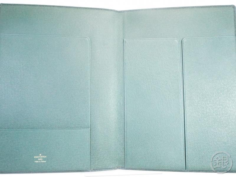 AUTHENTIC PRE-OWNED LOUIS VUITTON TAIGA EPICEA GREEN COUVERTURE BLOC NOTEBOOK COVER R20410 150019