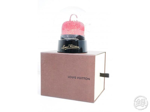 AUTHENTIC PRE-OWNED LOUIS VUITTON LIMITED VIP NOVELTY VERNIS RED ALMA VOYAGE MOTIF SNOW GLOBE 191012