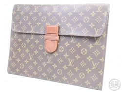 AUTHENTIC PRE-OWNED LOUIS VUITTON MONOGRAM VINTAGE POCHE MINISTRE DOCUMENT CASE No.54 M53445 153485