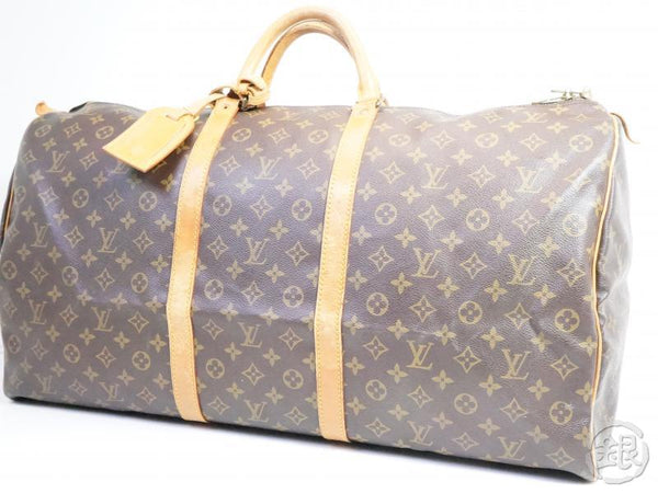 AUTHENTIC PRE-OWNED LOUIS VUITTON VINTAGE MONOGRAM KEEPALL 60 TRAVELING BAG DUFFLE M41422 160158