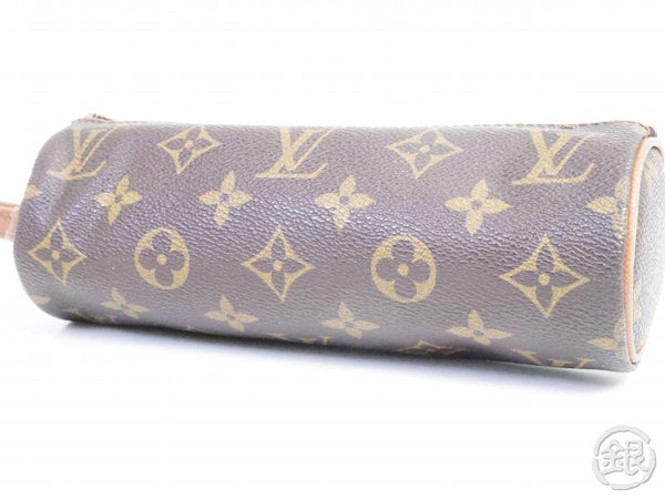 AUTHENTIC PRE-OWNED LOUIS VUITTON MONOGRAM TROUSSE RONDE PEN CASE COSMETIC POUCH BAG M47626 180596