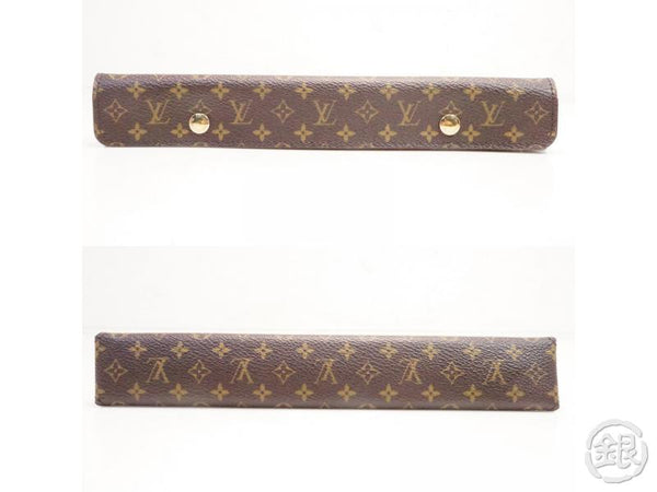 AUTHENTIC PRE-OWNED LOUIS VUITTON LV MONOGRAM PORTABLE JEWELRY NECKLACE HOLDER CASE LIMITED 142805