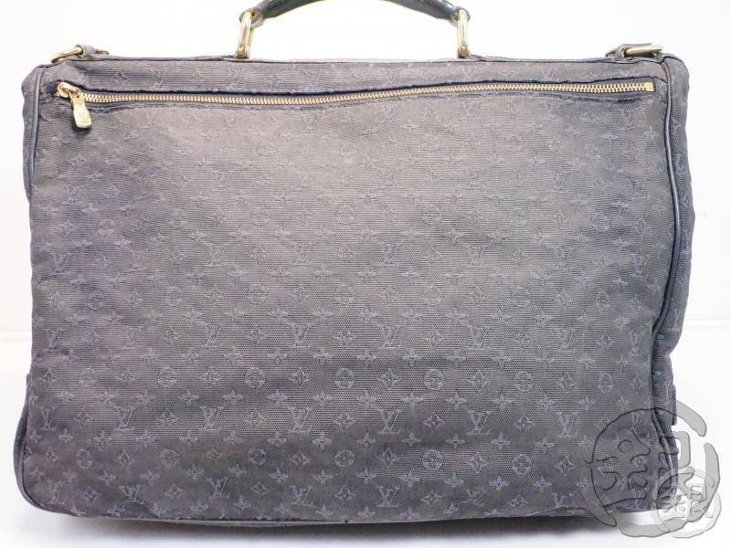 AUTHENTIC PRE-OWNED LOUIS VUITTON MONOGRAM MINI NAVY DENISE 2-WAY TRAVEL BAG w/ STRAP M42311 143640