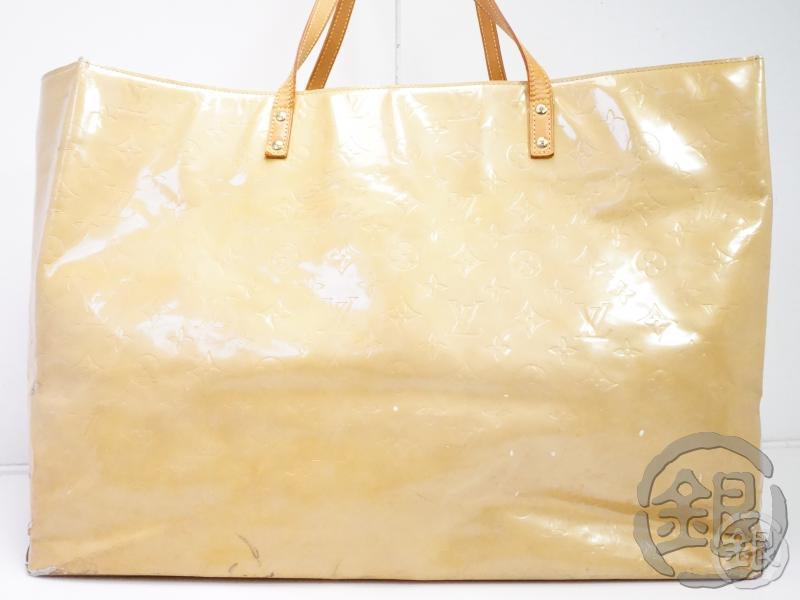 AUTHENTIC PRE-OWNED LOUIS VUITTON VERNIS BEIGE READE GM LARGE SHOULDER TOTE BAG M91140 B200036
