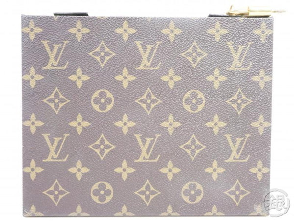 AUTHENTIC PRE-OWNED LOUIS VUITTON VINTAGE MONOGRAM BOITE BIJOUX JEWELRY BOX TRUNK CASE No.90 160920