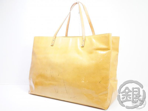 AUTHENTIC PRE-OWNED LOUIS VUITTON VERNIS BEIGE READE GM LARGE SHOULDER TOTE BAG M91140 181052