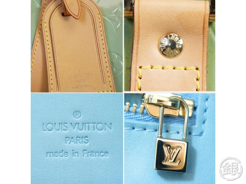 AUTHENTIC PRE-OWNED LOUIS VUITTON LV VERNIS BLUE MERCER KEEPALL DUFFLE TRAVELING BAG M91001 130766