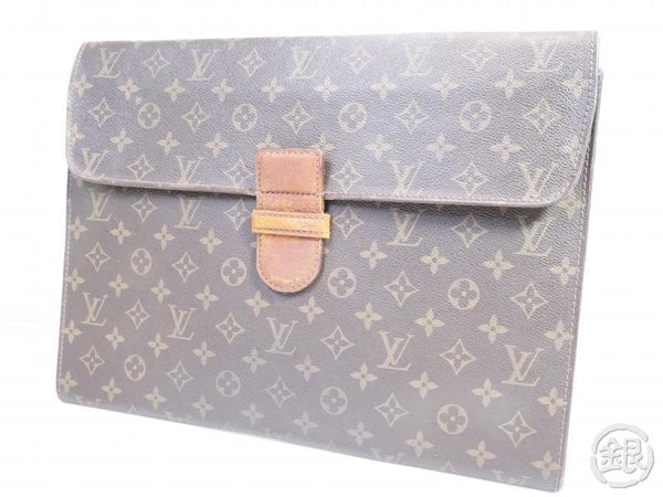 AUTHENTIC PRE-OWNED LOUIS VUITTON MONOGRAM VINTAGE POCHE MINISTRE DOCUMENT CASE No.54 M53445 152927