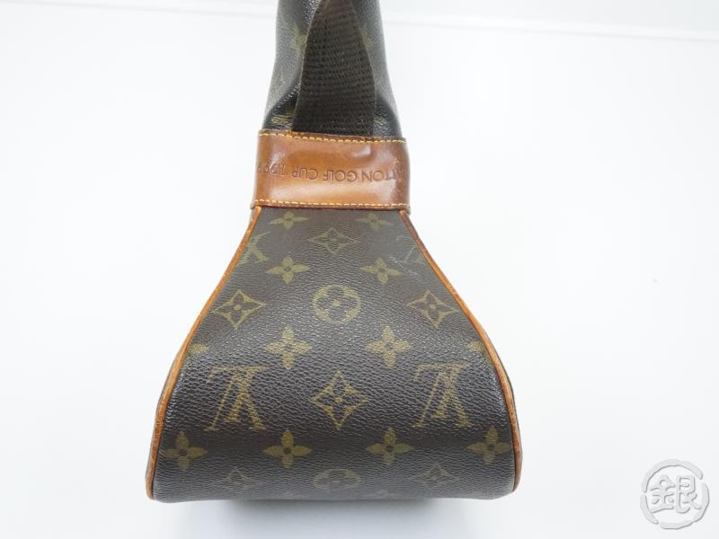 AUTHENTIC PRE-OWNED LOUIS VUITTON GOLF CUP 1999 LIMITED EDITION MONOGRAM CLUB BAG CASE M99086 142651