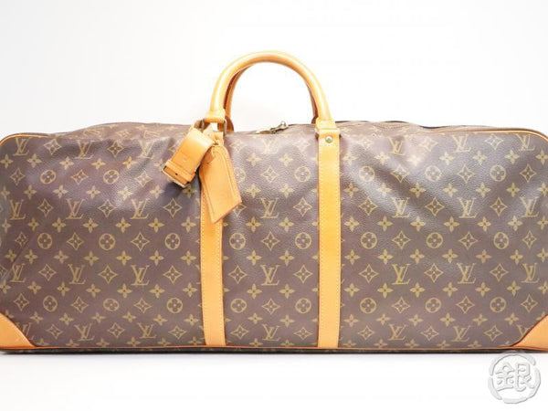 AUTHENTIC PRE-OWNED LOUIS VUITTON VINTAGE MONOGRAM SET DE TENNIS LUGGAGE TRAVEL BAG No.248 261518