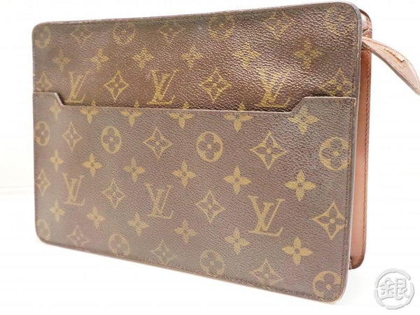 AUTHENTIC PRE-OWNED LOUIS VUITTON MONOGRAM POCHETTE HOMME CLUTCH BAG PURSE FOR MEN M51795 200095