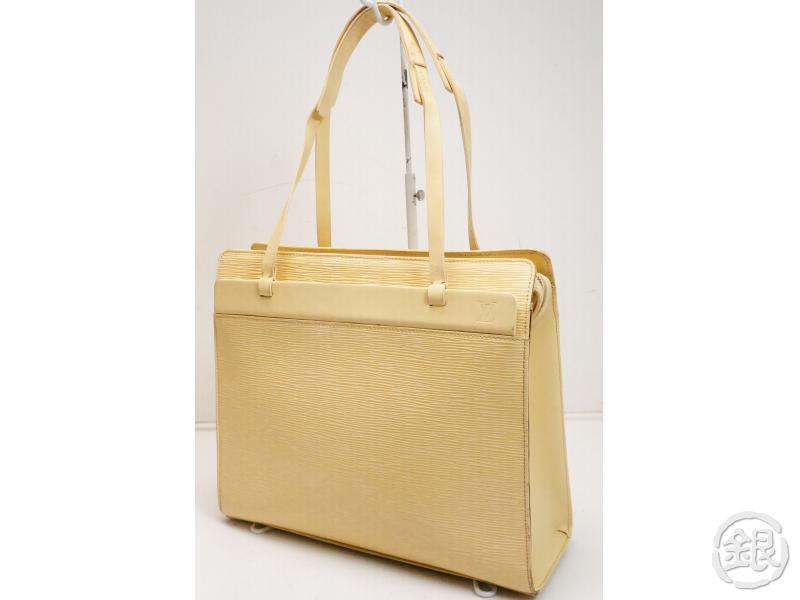 AUTHENTIC PRE-OWNED LOUIS VUITTON LV EPI VANILLE YELLOW CROISETTE PM SHOULDER TOTE BAG M5249A 200093