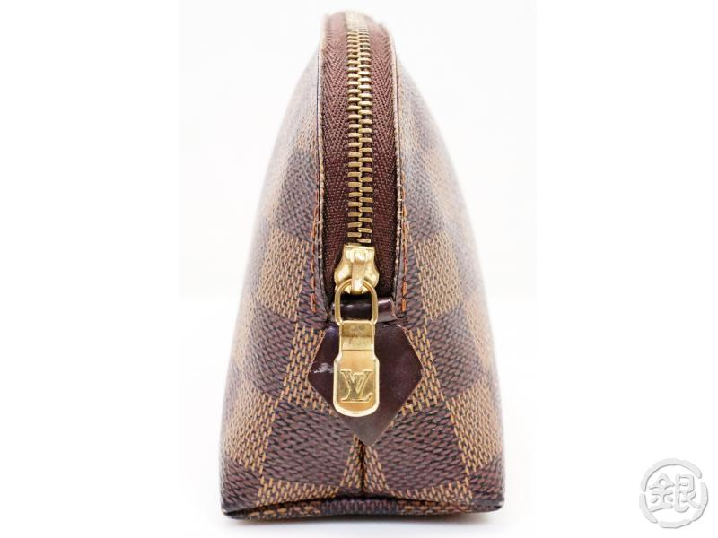 AUTHENTIC PRE-OWNED LOUIS VUITTON DAMIER EBENE POCHE POCHETTE COSMETIC POUCH BAG PURSE N47516 200096
