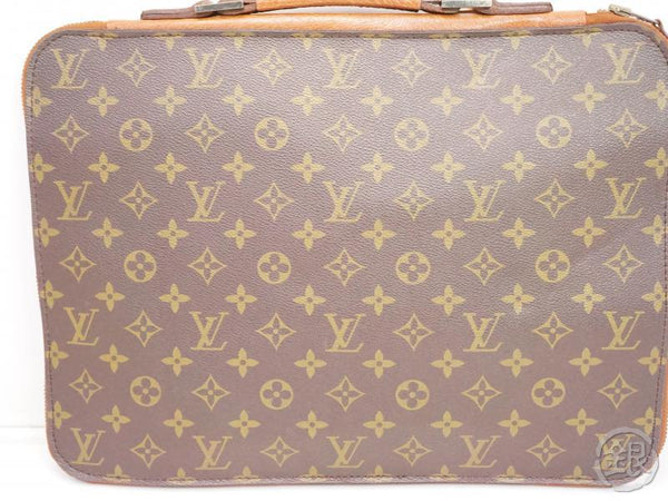 AUTHENTIC PRE-OWNED LOUIS VUITTON MONOGRAM VINTAGE POCHE DOCUMENTS POIGNEE DOCUMENT BAG No.52 200092