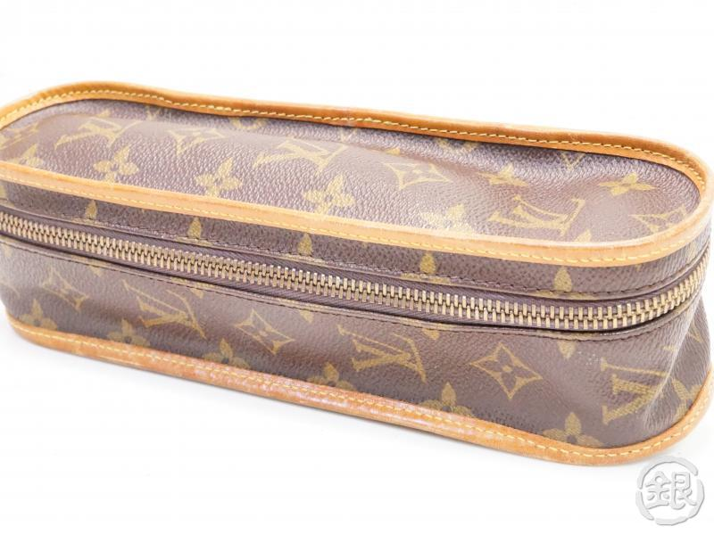 AUTHENTIC PRE-OWNED LOUIS VUITTON LV VINTAGE MONOGRAM ETUI BALLES DE TENNIS BALL CASE No.247 200103