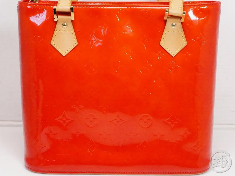 AUTHENTIC PRE-OWNED LOUIS VUITTON VERNIS ROUGE RED HOUSTON SHOULDER TOTE BAG PURSE M91092 200106