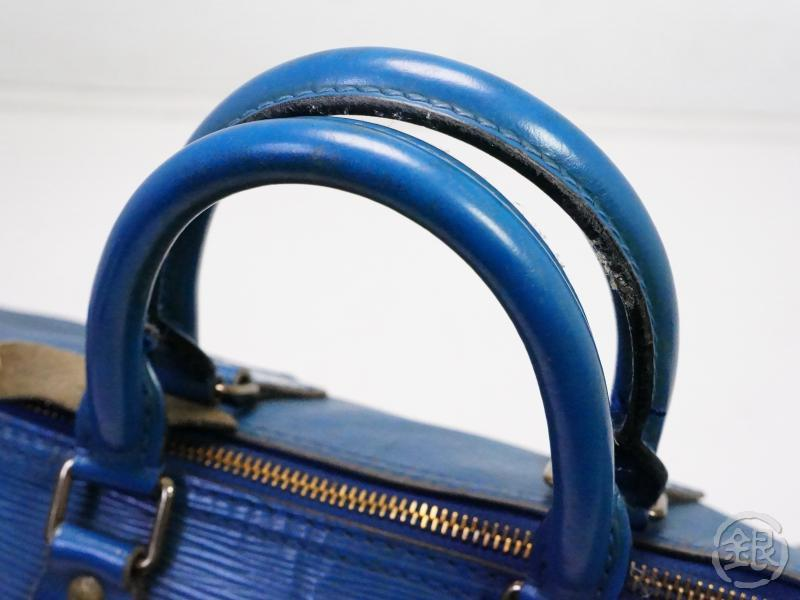 AUTHENTIC PRE-OWNED LOUIS VUITTON LV EPI TOLEDO BLUE SPEEDY 25 DUFFLE HAND BAG PURSE M43015 200142