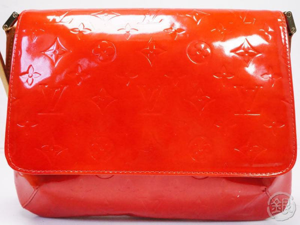AUTHENTIC PRE-OWNED LOUIS VUITTON VERNIS ROUGE THOMPSON STREET SHOULDER BAG PURSE M91094 200134