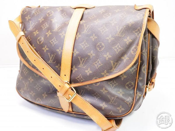 AUTHENTIC PRE-OWNED LOUIS VUITTON LV MONOGRAM SAUMUR 35 MESSENGER CROSSBODY BAG M42254 200131
