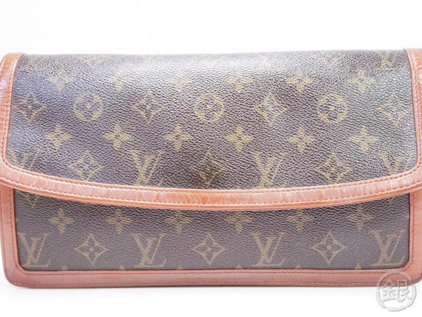 AUTHENTIC PRE-OWNED LOUIS VUITTON VINTAGE MONOGRAM POCHETTE DAME GM CLUTCH BAG PURSE M51810 200128