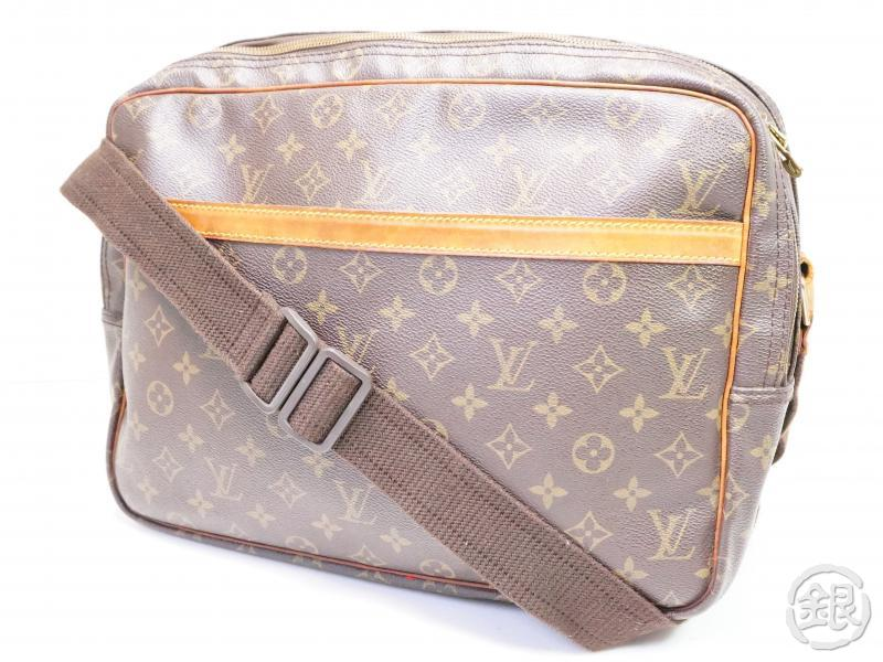 AUTHENTIC PRE-OWNED LOUIS VUITTON MONOGRAM REPORTER GM COMPARTMENT MESSENGER BAG M45252 200125