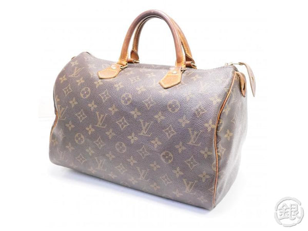 AUTHENTIC PRE-OWNED LOUIS VUITTON LV MONOGRAM SPEEDY 30 BOSTON HAND BAG DUFFLE M41526 M41108 200123