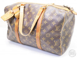 AUTHENTIC PRE-OWNED LOUIS VUITTON VINTAGE MONOGRAM SAC SOUPLE 35 TRAVELING DUFFLE BAG M41626 200136