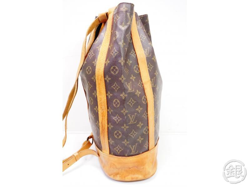 AUTHENTIC PRE-OWNED LOUIS VUITTON MONOGRAM RANDONNEE GM LARGE BACKPACK SHOULDER BAG M42244 200155