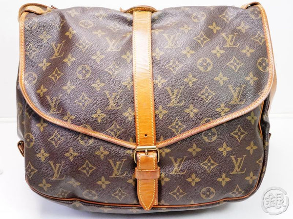 authentic pre-owned louis vuitton lv monogram saumur 35 messenger crossbody bag m42254 200161