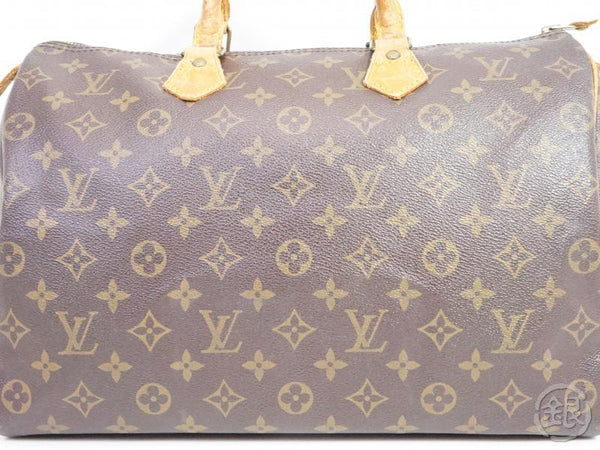AUTHENTIC PRE-OWNED LOUIS VUITTON VINTAGE MONOGRAM SPEEDY 35 DUFFLE BAG PURSE M41524 M41107 191710