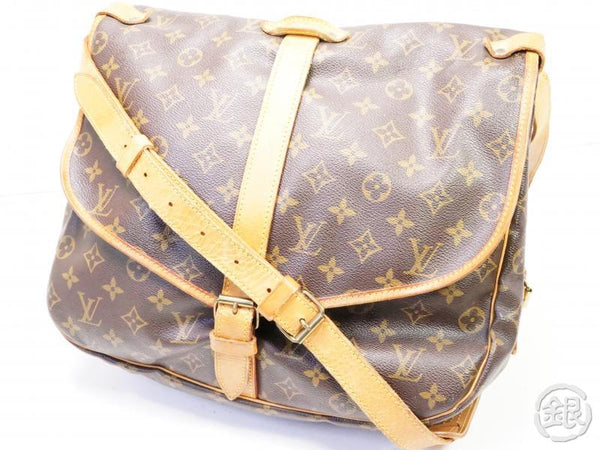 AUTHENTIC PRE-OWNED LOUIS VUITTON LV MONOGRAM SAUMUR 35 MESSENGER CROSSBODY BAG M42254 200173