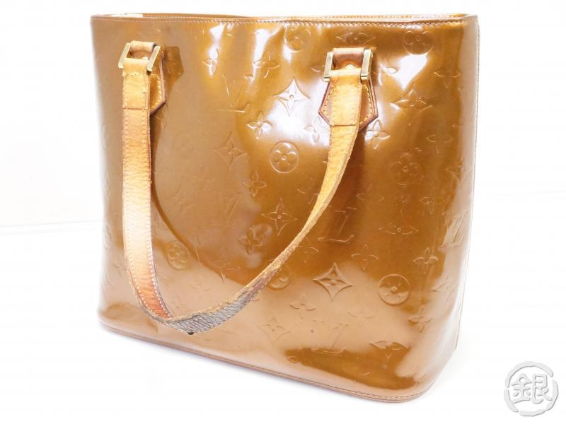 AUTHENTIC PRE-OWNED LOUIS VUITTON LV VERNIS BRONZE HOUSTON SHOULDER TOTE BAG PURSE M91122 200159