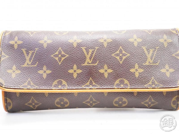 AUTHENTIC PRE-OWNED LOUIS VUITTON MONOGRAM POCHETTE TWIN GM 2-WAY CLUTCH SHOULDER BAG M51852