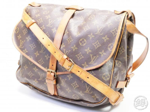 AUTHENTIC PRE-OWNED LOUIS VUITTON LV MONOGRAM SAUMUR 35 MESSENGER CROSSBODY BAG M42254 200169
