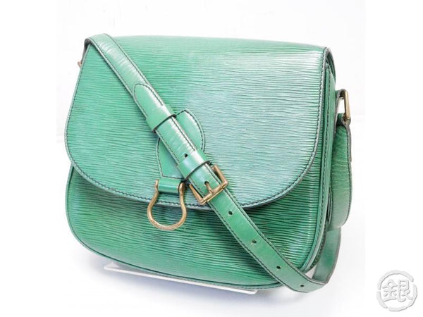 AUTHENTIC PRE-OWNED LOUIS VUITTON LV EPI BORNEO GREEN SAINT-CLOUD GM CROSSBODY BAG M52194 200162
