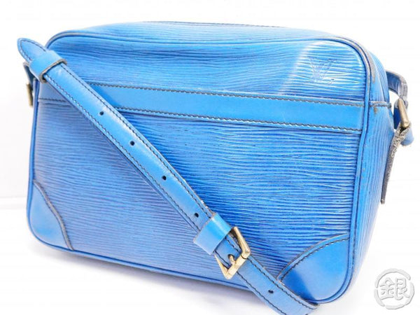AUTHENTIC PRE-OWNED LOUIS VUITTON EPI TOLEDO BLUE TROCADERO 24 PM CROSSBODY BAG PURSE M52315 200177