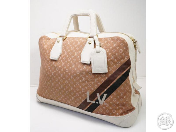 AUTHENTIC PRE-OWNED LOUIS VUITTON LV MONOGRAM MINI LIN INITIAL ISFAHAN TRAVELING BAG M40016 200165