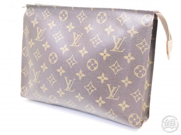 AUTHENTIC PRE-OWNED LOUIS VUITTON MONOGRAM VINTAGE POCHE TOILETTE GM COSMETIC POUCH M47542 200174