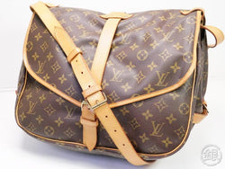 AUTHENTIC PRE-OWNED LOUIS VUITTON LV MONOGRAM SAUMUR 35 MESSENGER CROSSBODY BAG M42254 200172