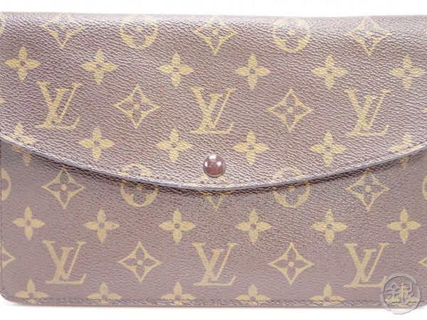 authentic pre-owned louis vuitton monogram vintage pochette double rabat 2-way m51815 no.236 200176