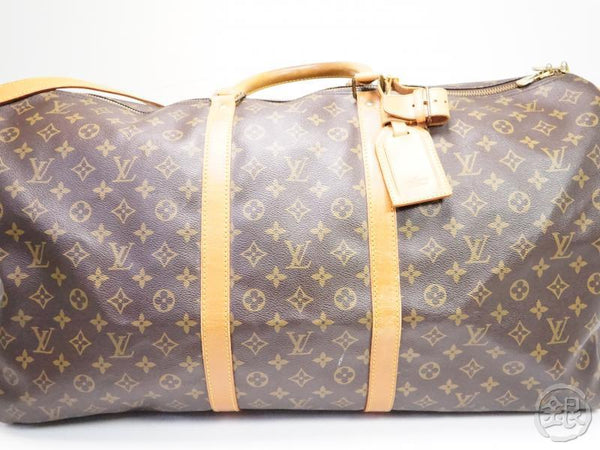 authentic pre-owned louis vuitton monogram keepall bandouliere 60 2-way travel bag m41412 200170