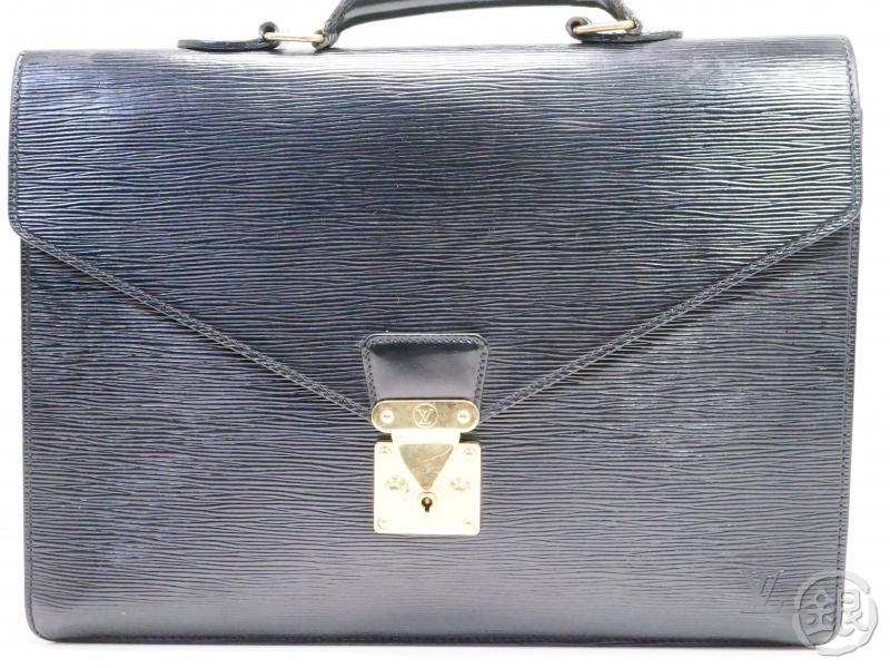 authentic pre-owned louis vuitton epi noir serviette conseiller business briefcase bag m54422 200191