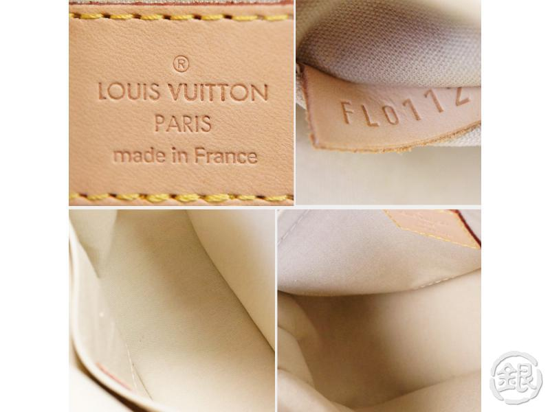 authentic pre-owned louis vuitton vernis blanc corail bellflower gm messenger bag m91706 200194