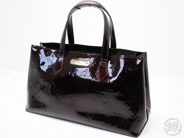 authentic pre-owned louis vuitton vernis amarante wilshire boulevard pm hand tote bag m93641 200198