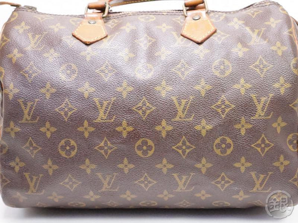 authentic pre-owned louis vuitton lv monogram speedy 30 boston hand bag duffle m41526 m41108 200179